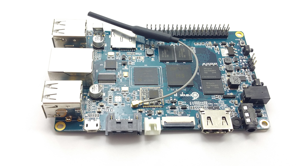 Orange Pi Plus2  -  2GB DDR3 - SATA - WiFi - 16GB EMMC